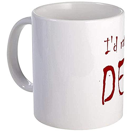 N\A ID Rather Be Watching Dexter Mug - Relleno de Calcetines de Taza de té de café de cerámica de 11 oz ID33AL