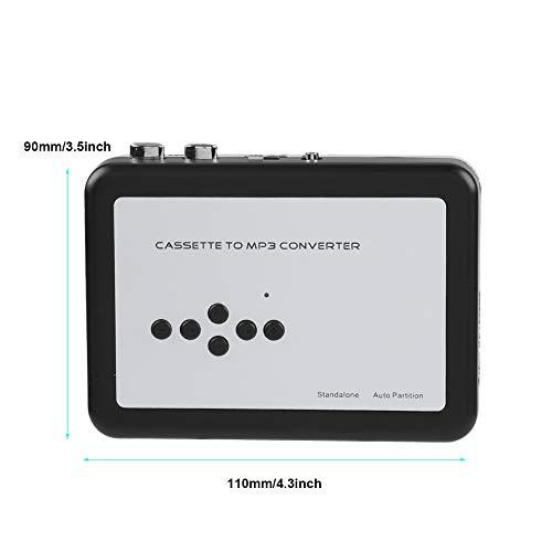BITHEOUT Captura de Casete, convertidor de MP3 práctico para Reproductor de música para Reproducir la Cinta