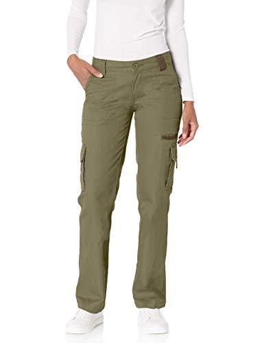 Dickies Women's Relaxed Cargo Pant Rinsed Grape Leaf Green 10/Regular