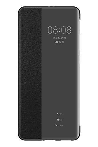 HUAWEI P40 Pro Smart View Flip Hülle Handytasche Original Zubehör Schwarz - 6.58 Zoll