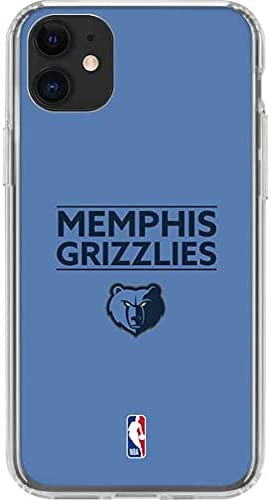 Skinit Clear Phone Case Compatible with iPhone 11 - Officially Licensed NBA Memphis Grizzlies Standard - Light Blue Design