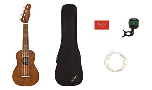 Fender Seaside Soprano Ukulele Natural Pack
