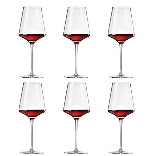 MUMUMI Juego de 6 Copas de Vino, Copas de Vino Tinto, Grandes Copas de Vino, Sopladas a Mano, Irrompibles, Personalizadas, Vasos de Cristal de Tallo Largo, Grandes Copas de Vino Tinto, Moderno Y Crea