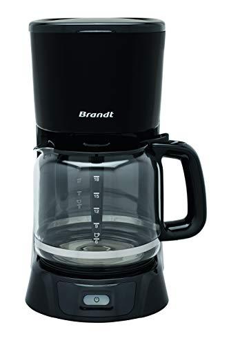 Brandt CAF1318 – Cafetière Filtre Électrique – Capacité 18 Tasses – Réservoir 1,8L – Verseuse en Verre — Fonction Maintien au Chaud 40 Minutes – Noir