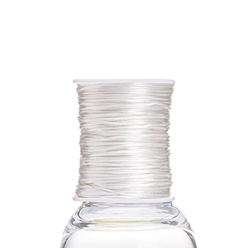 75 m satén cuerda de nylon perfecto para la dentición o sensorial Collares de seguridad y cable dentición natural collar de silicona de bricolaje dentición del bebé Juguetes