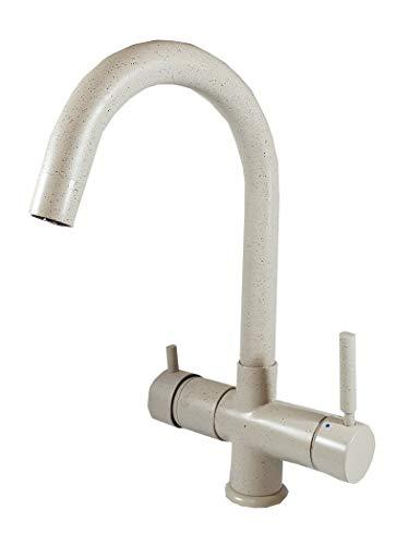 ForHome - Grifo de 5 vías para agua purificada, grifo para purificador (granito, avena fragranite)