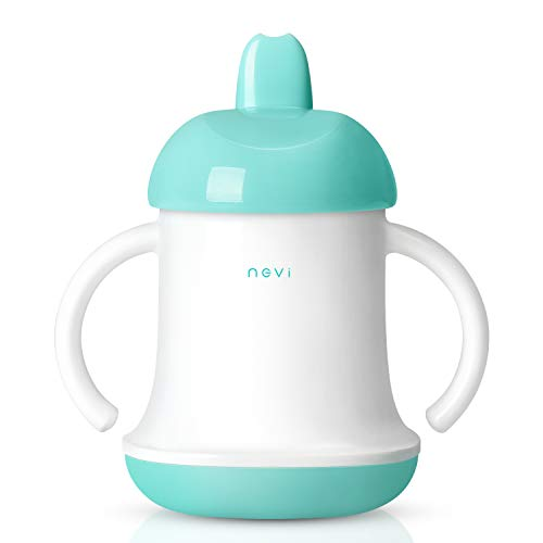 NCVI Baby Evolution Learner Natural Sippy Cup-5oz Spout Cup for 6+ Month Toddlers with Handle