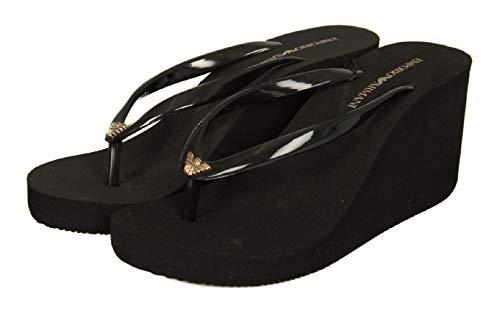 Emporio Armani Frau Flip-Flop mit Keil Artikel X3QS03 XL821 FLIP Flop PVC