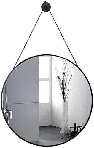 Zfggd Salle De Bain Meubles De Décoration Ronde De Bain Tenture Maquillage Miroir Grossissant Miroir Métal Cadre Décoratif Miroir Pas De Bricolage No Nail Nécessaire 50cmx50cm