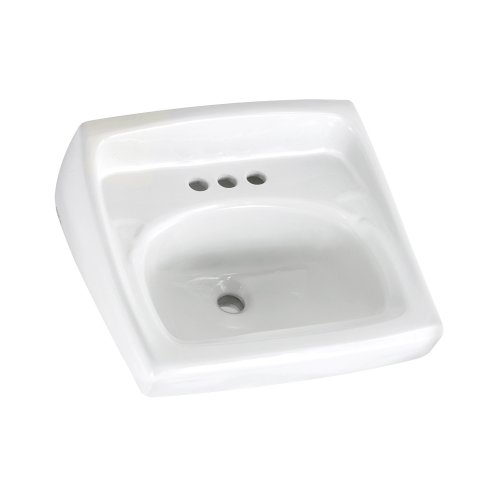 American Standard 0355.027.020 Lucerne Wall-Mount Lavatory Sink with 4-Inch Faucet Holes for Exposed Bracket Support, White American Standard 10 Hole