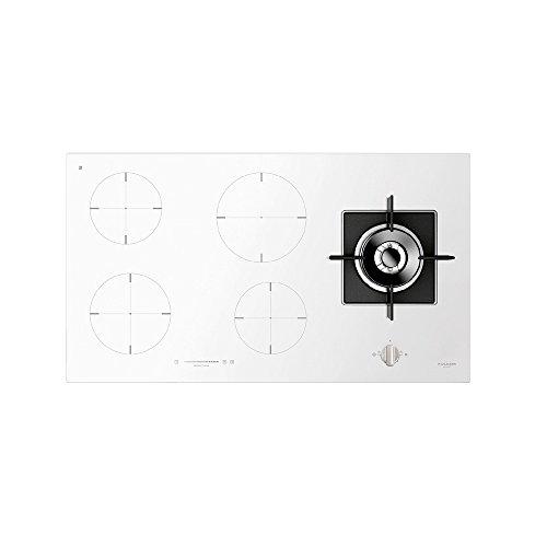 Fulgor Milano - Mesas de cocina mixtas para gas e inducción, color blanco