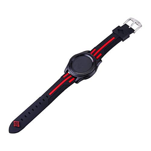 PZZZHF Banda para Gear S3 Frontier Strap para Samsung Galaxy Watch 46mm para Amazfit BIP para Huawei Watch GT 2E Strap Sport 22mm Watch Accesorios de Reloj 47mm