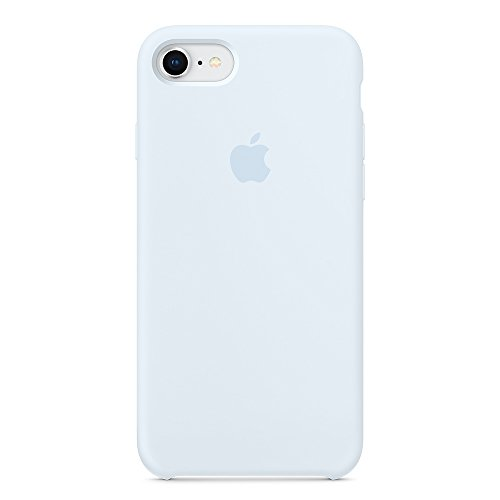 Dawsofl Soft Silicone Case Cover for Apple iPhone 8 (4.7inch) Boxed- Retail Packaging (Sky Blue)