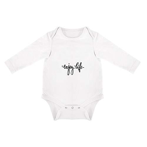 DKISEE Mono de bebé de algodón suave, de manga larga, triangular, para bebés de 0 a 24 meses Blanco Patrón 28 18 meses