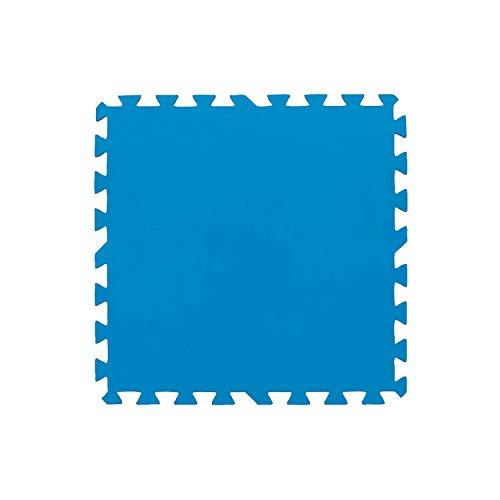 SATURNIA Protector Suelo Piscina Multiusos Set 8 Piezas de 50x50 cm.