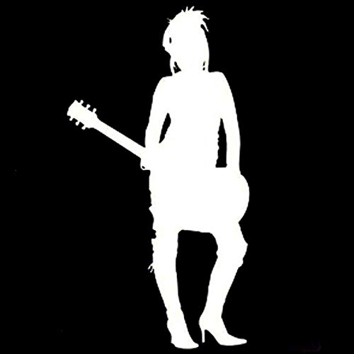 2 Pcs,Car/Truck Sticker Vinyl,Car Vinyl Decal Sticker, Music Guitar Silhouette is Ideal for Tablets, Laptops, Cars, School Books, Mirrors, Phones, Scooters,