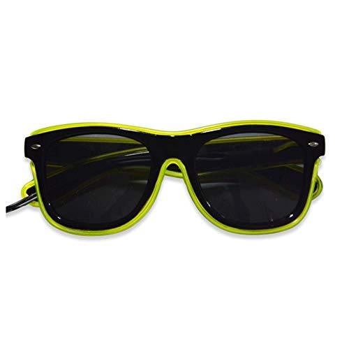 'N/A' Gafas LED con luz de neón, Gafas de Noche, EL con luz fría, Noche, Herramienta de creación de atmósfera de decoración de Fiesta(Color:Amarillo)