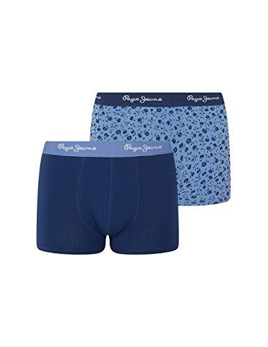 Pepe Jeans Boxershorts für Herren, Blau, 2 Stück, Blau L