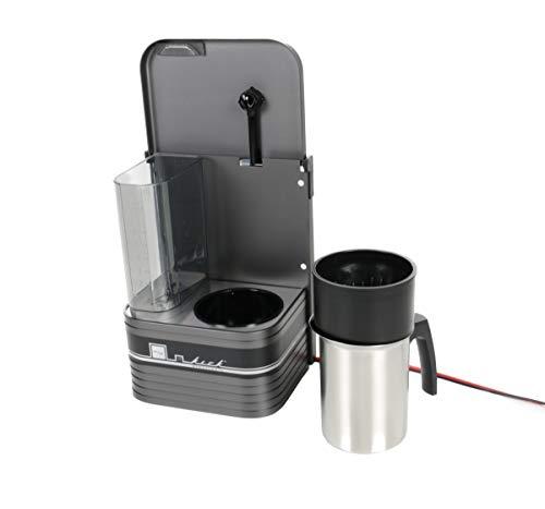 Kaffeemaschine KM6-2, für LKW, Camping, Wohnmobil und Boot, 6 Tassen, Edelstahlkanne, Filtereinsatz, Überhitzungsschutz, bis zu 12 Std.-Timerfunktion, eloxiertes Aluminium, 24V, 500W
