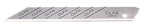 Olfa 362102 Cuchilla cutter troceable con ángulo de corte de 30· (80x9mm), Set de 10 Piezas