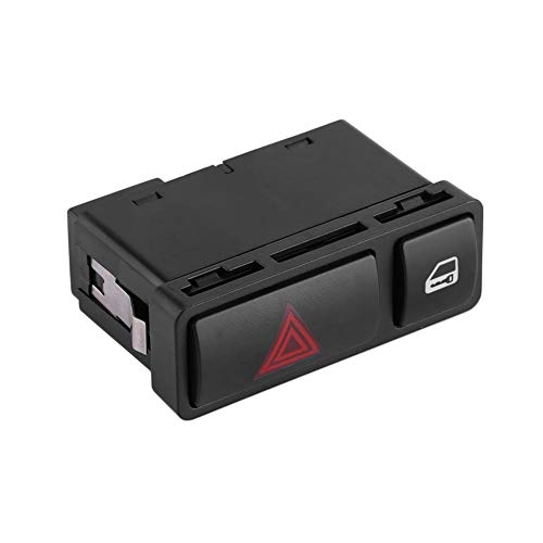 EVGATSAUTO Warnblinkschalter Zentralverriegelung für BMW 3er E46 E53 E85 325 X5 61318368920 (Kunststoff schwarz)