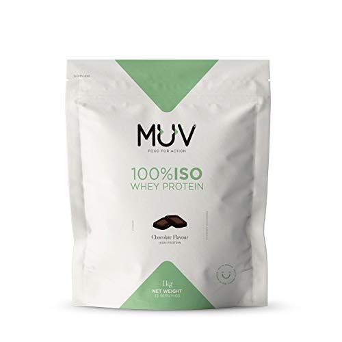 MUV Food for Action - Proteine del siero del latte isolate, con polvere di cacao, 1 kg