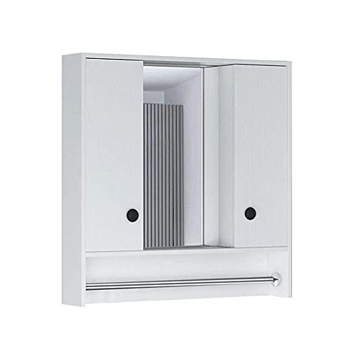 SHU Espejo de pared Espejo montado en la pared para maquillaje Armarios de baño Cabina de baño Lavar la puerta corredera Caja oculta Solo, blanco, A-601475CM ( Color : Blanco , tamaño : A-80*14*75Cm )
