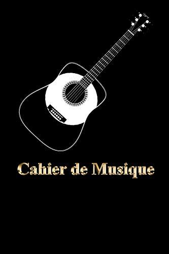 Guitare | Cahier de Musique | Carnet de partitions: Papier manuscrit - 11 portées par page - 110 pages - Bonne qualité - Couverture style ancien