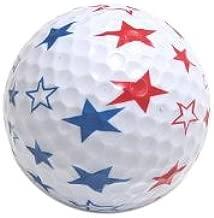 4th of July Patriotic USA Stars Golf Balls Pack of 6