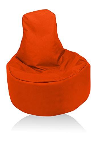 Kissenwelt-Berlin Sitzsack Gamer Riesensitzsack Kinder Sitzsäcke Erwachsene Indoor Beanbag Outdoor Gaming Bean Bags Boden Sitzsack gefüllter Sessel Lounge Sitzkissen 12 Farben wählbar (Orange)