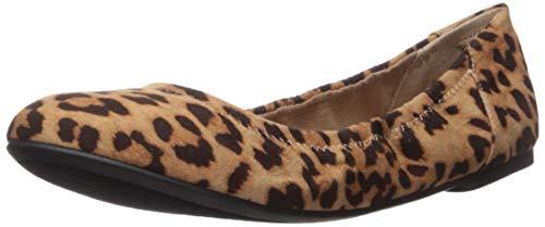 Amazon Essentials Women's Ballet Flat, Faux Leopard, 6.5 B US