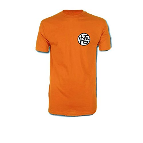 Dragonball Z Dragon Ball Super - Goku Symbol Adult T-Shirt (Small, Orange)