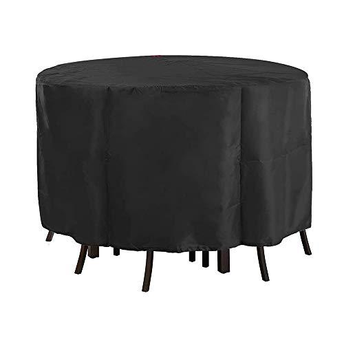 HXDY Cubierta Redonda para Muebles De Exterior, Protector De Mesa De Comedor De Jardín, Protector De Patio Exterior Resistente Al Agua/Polvo/Ultravioleta 142x68cm