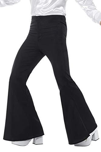 Smiffys Pantalones de Campana para Hombre de Color Negro