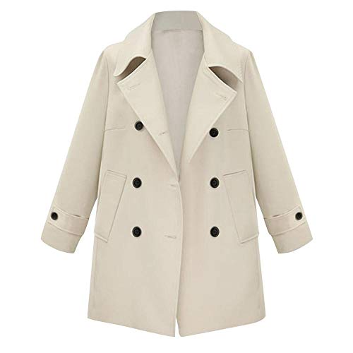 VJGOAL Blazer para Mujer Moda Vintage Doble Botonadura Color sólido Bolsillos de...
