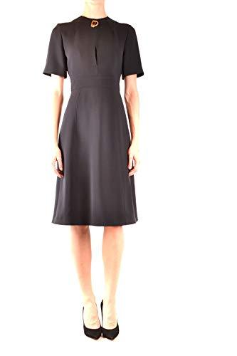 BURBERRY Luxury Fashion Damen MCBI38694 Schwarz Wolle Kleid | Jahreszeit Outlet