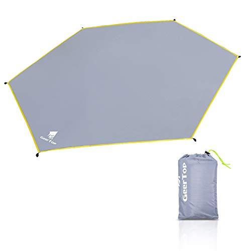 GEERTOP Camping Zubehör Schutzplane Leichte Wasserdicht Floor Protector für 2 Personen Zelt Kuppelzelt Camping Picknick