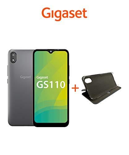 Gigaset GS110 Smartphone ohne Vertrag inkl Book-Case - Handy 6 Zoll Display, 3000mAh Akku, 5MP+8MP Kamera, 256 GB erweiterbar Dual SIM, Android 9