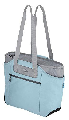 alfi Thermo-Kühltasche, isoBag mittel 23 Liter - Isolierte Einkaufstasche aus Polyester, hellblau 57 x 38 x 50 cm - 2in1, Isoliertasche inkl. extra Tragetasche - 0007.257.812