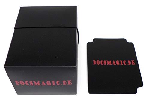 docsmagic.de Deck Box Full Black + Card Divider - Caja Negra - PKM YGO MTG