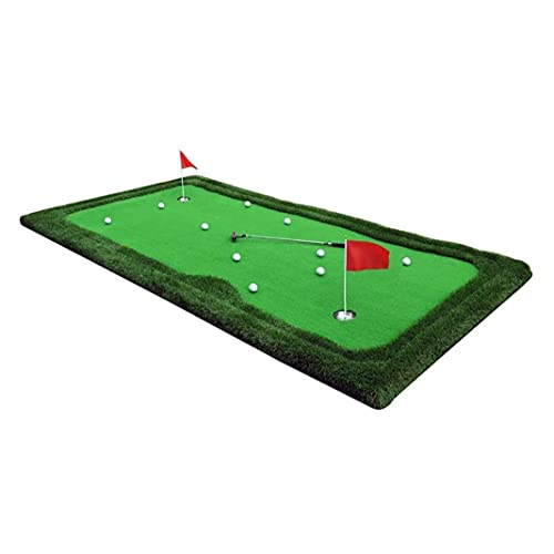 WBJLG Golf Putting Green Mat Professional Putting Mats, Golf Practice Putter Pad, Indoor Golf Green Putting Putter Office Exercise Blanket for Outdoor