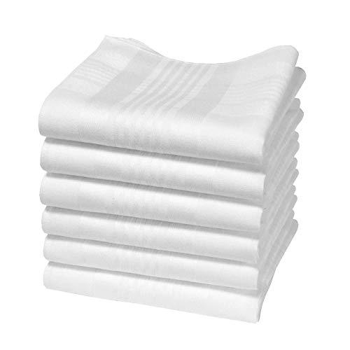 Hankiss - Pañuelos de Algodón Orgánico Blanco - Modelo ICE - Tamaño...