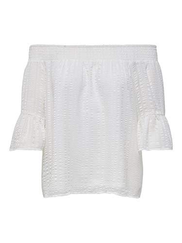 ONLY Damen ONLOLIVIA S/S Off Shoulder TOP WVN Bluse, Cloud Dancer, 38