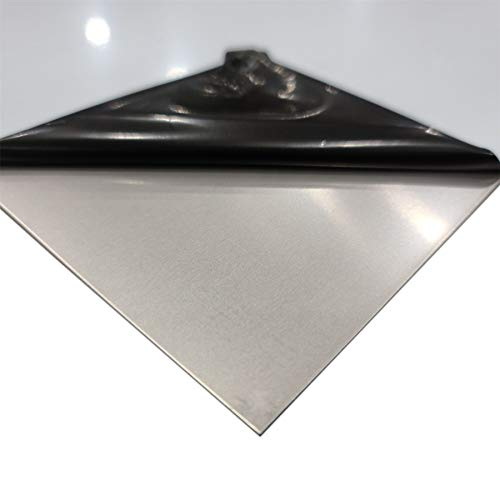 Online Metal Supply 304 Stainless Steel Sheet, 0.060 (16 ga.) x 12 inches x 24 inches, PVC 1 Side