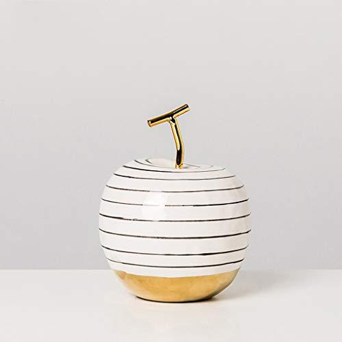zxb-shop Decoración de Escritorio de estantería Orchard cerámica de Apple de la Fruta Artificial Decoración del Ornamento de los Regalos Decor Soporte Escritorio Oficina Decoración