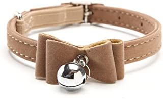 Adebie - Safety Elastic Bow Tie with Bell Small Dog cat Collar Safe Soft Velvet pet Products Dog Collar pet