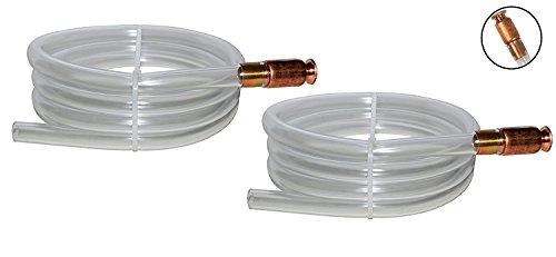 The Original Safety Siphon 2 Pack Gas Siphon 6' High Grade Hose 1/2' Valve
