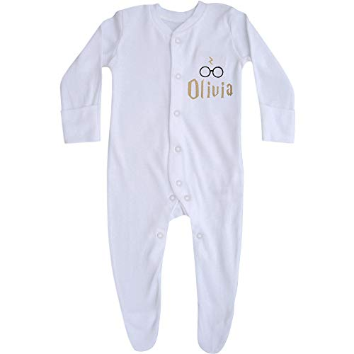 Personalised Baby Wizard Sleepsuit