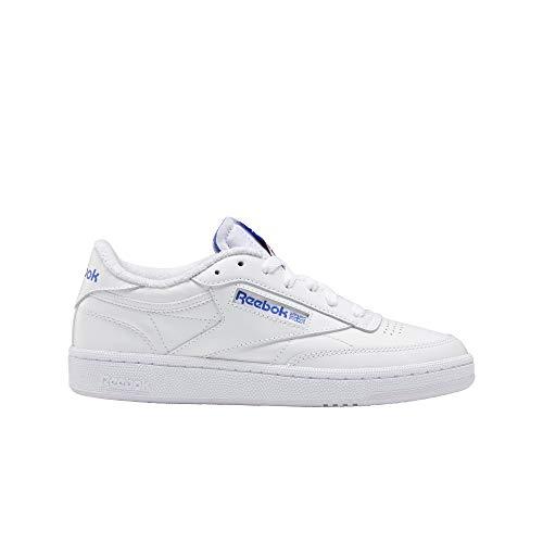 Reebok Club C 85, Zapatillas Mujer, White Luminous Lilac Court Blue, 42 EU