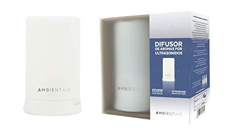 Ambientair. Diffuseur cylindrique d'huile parfumée. Diffuseur de vapeur froide à ultrasons avec de l'huile soluble dans l'eau comme parfum. Diffuseur recommandé pour les huiles hydrosolubles Ambientair.